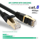 Lot CAT 8 7 PVC Multi Shielded Gold Durable Network LAN Cable 6/10/25/50/66 Ft.