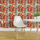 Wallpaper Roll Orange Red Emerald Leaves Branches Nature Floral 24in x 27ft