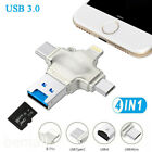 USB 3.0 TF Card Reader Adapter Flash Drive Type-C OTG For iPhone Android PC US