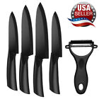 Zirconia Blade Ceramic Kitchen Knives 3 4 5 6 inch Chef Knife Cook Set + Peeler