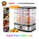 Electric Food Dehydrator BPA-Free 8 Trays Food Dryer for Beef Jerky Fruit Herbs.