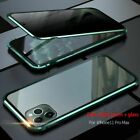 For iPhone 11 Pro Max Anti-peep Magnetic Phone Case Metal Bumper Cover Anti-Spy $12.99 USD on eBay