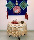 Round Table Cover Indian Mandala Tablecloth Round Beach Tapestry Yoga Mat Decor
