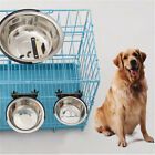 Pet Dog Puppy Feeder  Stainless Steel Hanging Food Water For Crate Cage