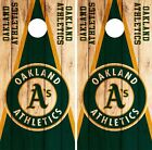 Oakland Athletics Cornhole Skin Wrap MLB Wood Decal Vinyl Board Logo Art DR594 on Ebay