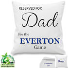 "Personalised Everton Football Fan Cotton Cushion Dad, ANY Name 18""x 18"""