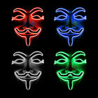 LED Halloween Mask Light Up V for Vendetta Anonymous Guy Fawkes  Cosplay Props