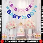 Baby Shower Rustic Party Bunting Personalised Decoration Boy Girl Banner Garland