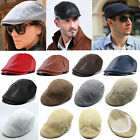 Men Vintage Peaked Flat Cap Golf Driving Newsboy Gatsby Cabbie Beret Casual Hat