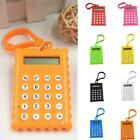 Plastic 8 Digits Electronic Mini Calculator Keychain School Office Supplies Best