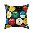 Jazz Records Vintage Music Throw Pillow Cover w Optional Insert by Roostery