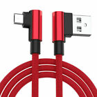 Red L-Shape Braided Data Sync Charging Cable For Sony Xperia miro