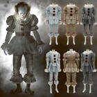 Stephen King It Pennywise Costume Adult Kids Clown Suit Halloween Cosplay Outfit