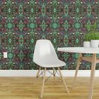 Wallpaper Roll Bubbles Turquoise Green Fractal Spots Geek Chic 24in x 27ft