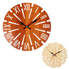 Wooden Round Ornaments Wall Clock Retro European Style Windmill Shaped Classic