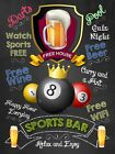 Sports Bar 8 Ball Green, Retro replica vintage style metal tin sign gift Pub £9.5 GBP on eBay