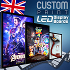 LED Backlit Display Lightbox Frame with ANY Poster Printed - Cinema,  Movies