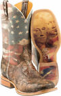 """Men's Tin Haul Land Of The Free 11"""" Cowboy Boots by Tin Haul 14-020-0007-0386"""