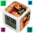 Tinkerbell Tangled Snow White Princess Alarm Digital Clock Glowing LED Lights