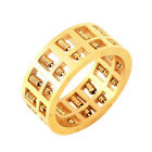 Abacus Ring Gold for Men Women Maths Number Rotatable Beads Charms Jewelry