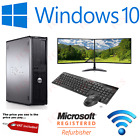 FAST DELL DUAL SCREEN PC COMPUTER DESKTOP TOWER WINDOWS 10 8GB RAM...