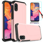 For Samsung Galaxy A10e A20 Case Protective Hybrid Rugged With Screen Protector