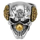 Fashion Men Punk Silver Clown Skull Rings Domineering Personality Ring Tihkl