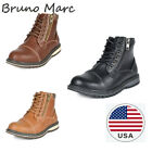 Bruno Marc Kids Boys Motorcycle Leather Chukka Boots Hiking Boots Ankle Boots