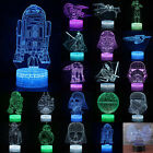 Star Wars Death Star 3D Acrylic LED 7 Color Night Lights Touch Table Desk Lamps $11.39 USD on eBay