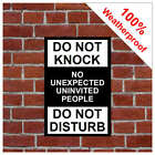 Do not knock do not disturb sign or sticker 9495 extremely durable