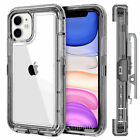 Clear Crystal Case for iPhone 11 Pro XS MAX XR 6 7 8 Plus SE2 W/ Clip Belt Stand