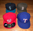 Pre-owned MLB Hats YOU PICK Nationals Mariners Red Sox Texas Rangers 7 3/8 1/2