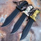 """12"""" Military TACTICAL SURVIVAL Rambo Hunting FIXED BLADE KNIFE Army Bowie Tool"""