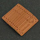 20/50 Pcs PU Leather Labels Tags Clothes Bags Decor Accessories Handmade DIY US