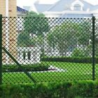 Chain Link Fence Set Outdoor Garden Fencing Panel Roll with Posts & Hardware
