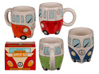 Camper Bus Ceramic Mug - Coffee Tea Novelty Gift Funny Retro VW Secret Santa