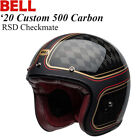 BELL Custom 500 Carbon Jet/Half Helmet RSD Checkmate Matte/Gloss Black/Gold
