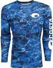 Costa Mossy Oak Elements Performance Fishing Shirt - Blue - Pick Size-Free Ship