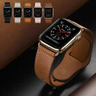 Apple Watch Band, Genuine Leather Strap for iWatch Series 5 4 3 38/42mm 40/44mm image