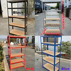 Black - 5 TIER METAL SHELVING UNIT STORAGE RACKING SHELVES GARAGE WAREHOUSE SHED