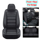 Universal PU Leather Car Seat Cover Full Set Fit for Dodge Charger Durango Dart $239.0 CAD on eBay