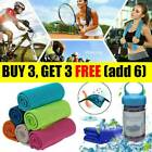 Instant Cooling Towel ICE Cold Cool Golf Cycling Gym Sport Outdoor I AU STOCK