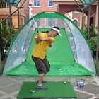 Foldable Golf Hitting Cage Training Indoor/Outdoor Swing Trainer Chipping Net UK