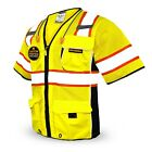 KwikSafety EXECUTIVE Hi Vis Reflective ANSI PPE Surveyor Class 3 Safety Vest