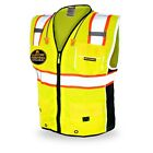 KwikSafety CLASSIC Hi Vis Reflective ANSI PPE Surveyor Class 2 Safety Vest