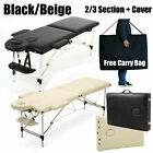 Black Massage Beauty Bed Table Couch 3 Way Adjustable Portable Folding Therapy