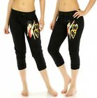 Betty Boop Cotton-Blend Capri Jogger Pants, Black, S, M, L, XL $16.95 USD on eBay