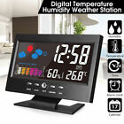 Colorful LCD Digital Display Thermometer Humidity Clock Alarm Weather Calendar