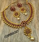 Indian Bridal Jewellery Pearl Stone Studded Choker Jewellery Necklace Set