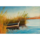 Dalyan Boat-Limited Edition A4 A3 A2 PRINT of Original Painting. Turkey Reeds